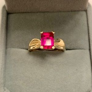 10K GOLD and Genuine RUBY ring